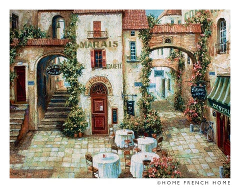 Wall Tapestry - French Village Square