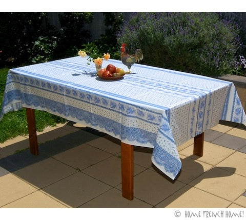 Coated Tablecloth - Provence Tradition Blue & White