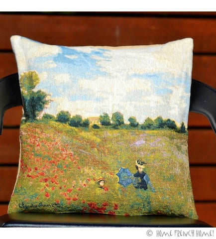 Cushion Cover - Monet Les Coquelicots