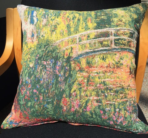 Cushion Cover - Monet Pont de Giverny