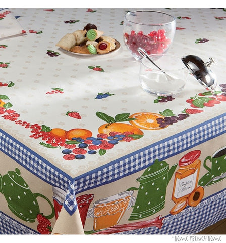 Beauvillé Gourmandises Coated Tablecloth