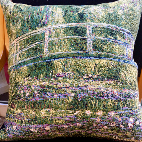 Cushion Cover - Monet Pont de Giverny (Green)