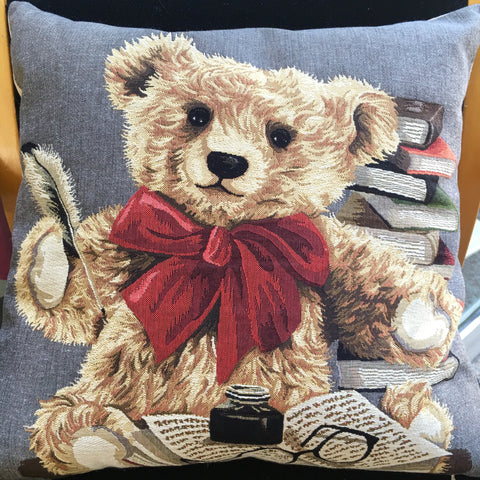 Cushion Cover- Literary Bear (Inkwell)