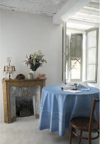 Large Jacquard Tablecloth, Round - Durance