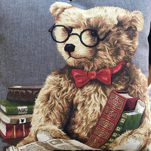 Cushion Cover - Literary Bear (Bow Tie)