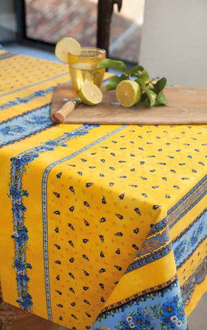 Coated Tablecloth - Provence Tradition Yellow