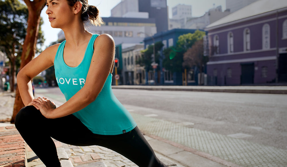 Movero bamboo activewear. Organic, eco certified and natural. High performance and softness woven into the most comfortable activewear. The best womens t-shirts & leggings for every workout- yoga, crossfit, running & other sweaty pursuits. Based in Europe