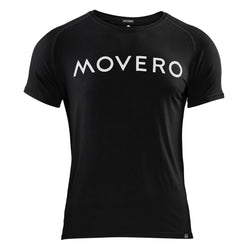 Our performance bamboo baseline t-shirt is perfect for before, during and after workouts. Black with a bold Movero print in white across the chest. Easy athletic fit with flat stitching to avoid chafing. Our bamboo tops offer ultimate comfort, performance, strength and best of all, less smell! That's right. Bamboo fabric is sweat-wicking and naturally contains antibacterial qualities.