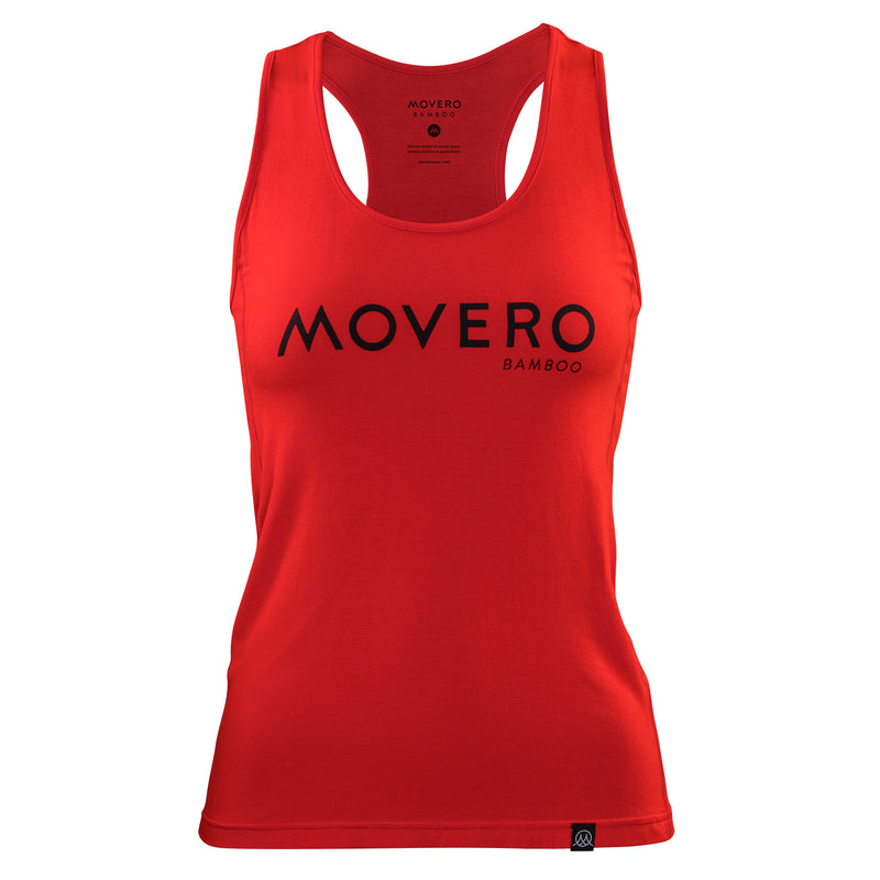 Performance meets style in our stunning red racerback. Movero Bamboo is printed across the chest in a high-quality soft-touch dark ink, which feels as soft as the vest itself. So, whether you're out running, climbing, flowing in yoga or lifting in crossfit, you'll be effortlessly supported in our premium bamboo. A natural fabric that's comfortable, temperature regulating, anti-bacterial and treads lightly on the planet.