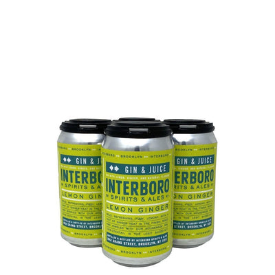 Interboro Gin and Juice Canned Cocktail 4pk