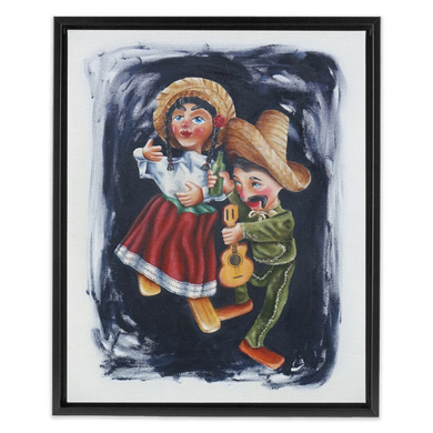 Marionettes - Framed Stretched Canvas Print