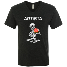 Load image into Gallery viewer, ARTISTA Unisex Tri-blend Heather V-Neck T-Shirt