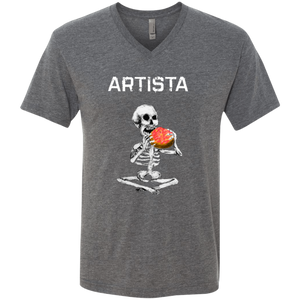 ARTISTA Unisex Tri-blend Heather V-Neck T-Shirt