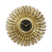 Art Deco Sunburst Wall Clock - Vintage Gold Star - Newgate Sunblaze SBLAZE253VS