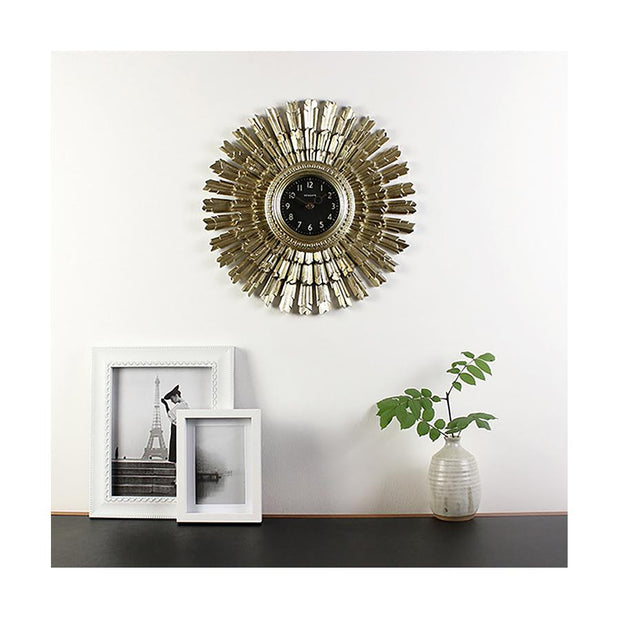 Art Deco Sunburst Wall Clock - Vintage Gold Star - Newgate Sunblaze SBLAZE253VS (room decor) 1 copy