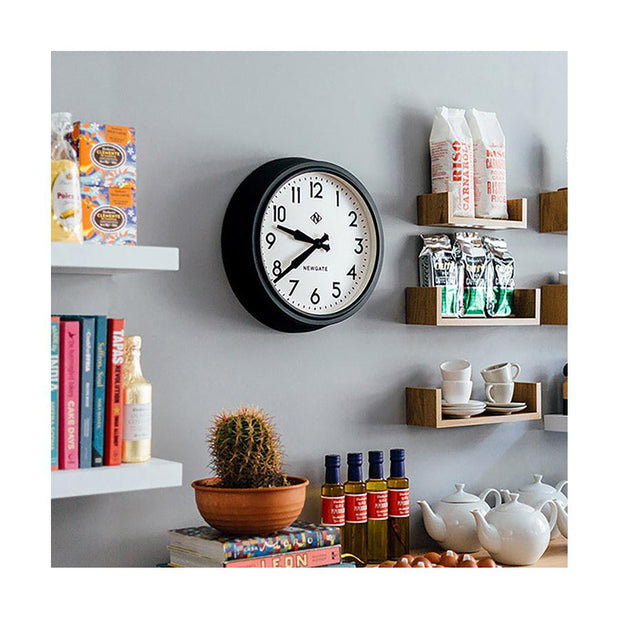 Black Station Wall Clock - Retro Mid-Century - Newgate Electric GWL12MK (homeware) 1 copy