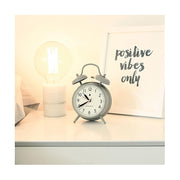 Classic Twin-Bell Alarm Clock - Large Grey - Newgate Covent Garden CGAM587OGY (homeware)