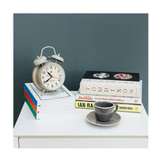 Classic Twin-Bell Alarm Clock - Large Grey - Newgate Covent Garden CGAM587OGY (room decor)