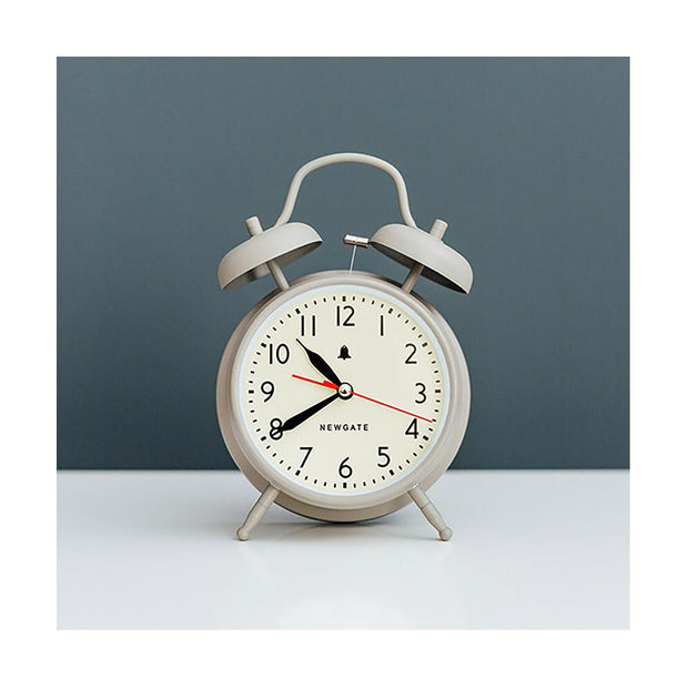 Classic Twin-Bell Alarm Clock - Large Grey - Newgate Covent Garden CGAM587OGY (interior)