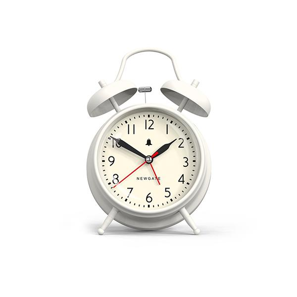 Classic Twin-Bell Alarm Clock - Large White - Newgate Covent Garden CGAM587LW