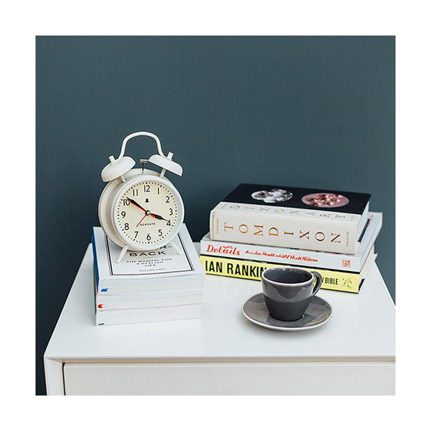 Classic Twin-Bell Alarm Clock - Large White - Newgate Covent Garden CGAM587LW (home accessories)