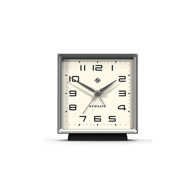 Decorative Alarm Clock - Silent 'No Tick' - Black - Skyscraper SKY513CK