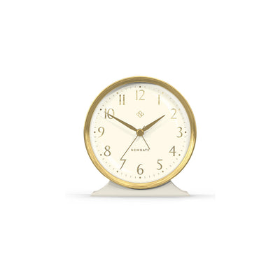 Decorative Art Deco Alarm Clock - Cream & Gold - Newgate - Hotel HOTE646LGY