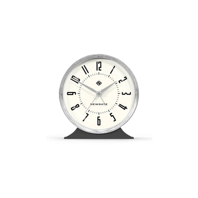 Decorative Art Deco Alarm Clock - Grey & Silver - Newgate - Hotel HOTE513BGY