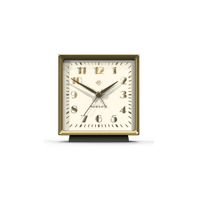 Decorative Art Deco Alarm Clock - Silent 'No Tick' - Grey - Skyscraper SKY642BGY