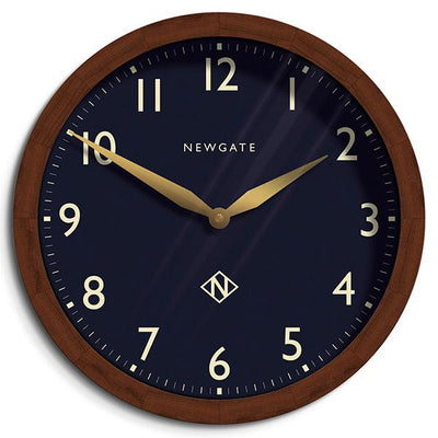 Extra-Large Solid Wood Wall Clock - Classic Dark - Newgate Billingsgate BILL93DO