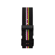 G6S Multicolour Striped Canvas Watch Strap - Belt - Reverse