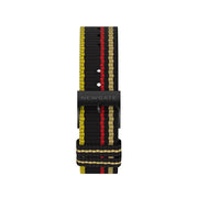 G6S Multicolour Striped Canvas Watch Strap - Windbreaker - Reverse