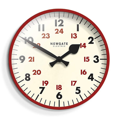 Large Red Station Clock - Marker Dial - Newgate Putney PUT552R