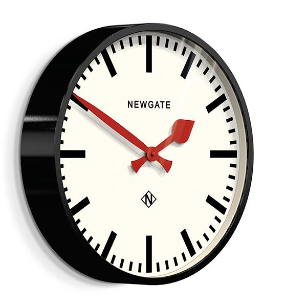 Large Black Station Clock - Marker Dial - Newgate Putney PUT390K (skew)