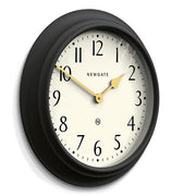 Large Decorative Dark Grey Wall Clock - Newgate Westhampton WEST117GGY (skew)