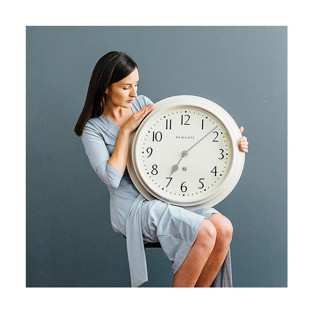 Large Decorative Light Grey Wall Clock - Newgate Westhampton WEST117LIGY (lifestyle) 1 copy