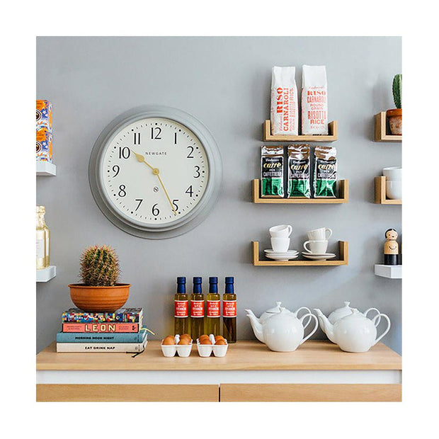 Large Decorative Mid-Grey Wall Clock - Newgate Westhampton WEST117PGY (room decor) 1 copy