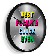 Limited Edition Slogan Wall Clock - Newgate Best Clock Ever NUMONEBEST (skew)