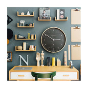 Modern Scandi Wall Clock - Large Minimalist - Plywood & Dark Grey - Newgate Mr Clarke MRC130PLY53 (home accessories) 1 copy