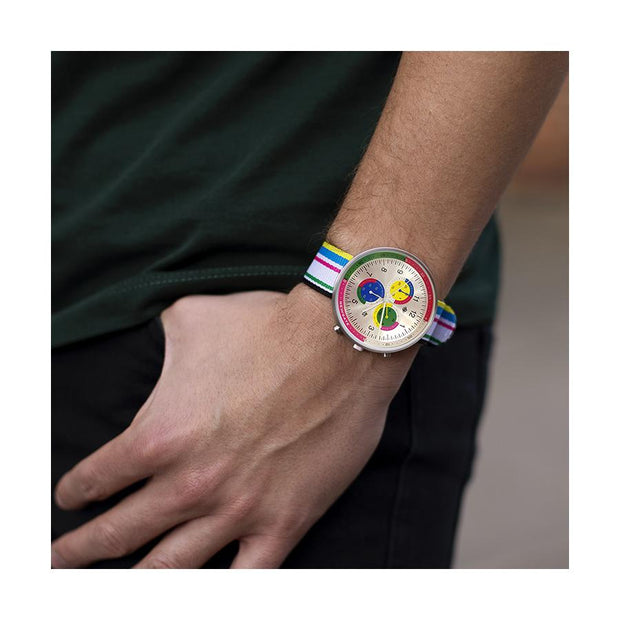 G6 Multicolour Striped Canvas Watch Strap - Deckchair - Men's Watches