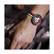 G6 Multicolour Striped Canvas Watch Strap - Socks - Men's Watches