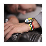 G6 Multicolour Striped Canvas Watch Strap - Socks - Men's Fashion Accessories