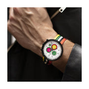 G6 Multicolour Striped Canvas Watch Strap - Socks - Men's Wristwear