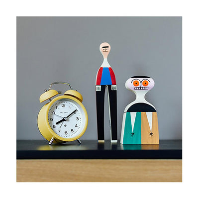 Modern Alarm Clock - Bright Colour Yellow - Silent 'No Tick' - Newgate Echo CBM134CHY (room decor)