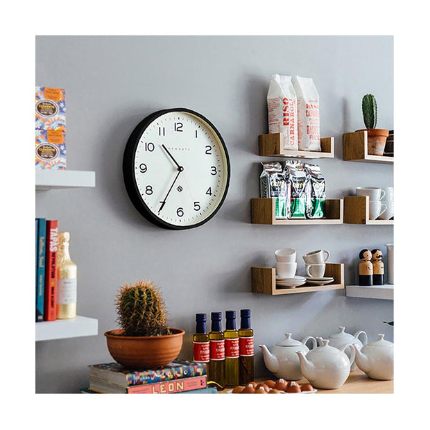 Modern Black Wall Clock - Minimalist - Newgate Echo NUMTHR129K (homeware) 1 copy