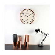 Modern Copper Wall Clock - Silent 'No Tick' - Newgate Chrysler WAT406RAC (home accessories) 1 copy