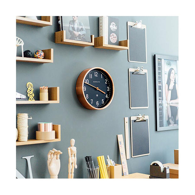 Modern Copper Wall Clock - Small - Newgate Master Edwards LUGG372RAC (homeware) 1 copy