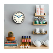 Modern Industrial Wall Clock - Galvanized Metal - Blue Hands - Newgate LUGG667GALBL INTERIOR