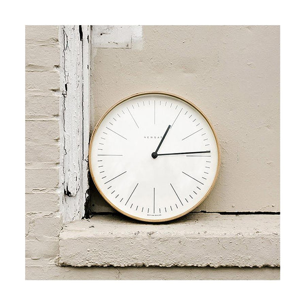 Modern Minimalist Wall Clock - Large Scandi Plywood - Newgate Mr Clarke MRC160PLY40 (home accessories)