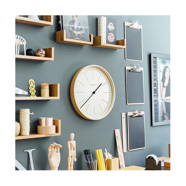 Modern Minimalist Wall Clock - Large Scandi Plywood - Newgate Mr Clarke MRC160PLY40 (homeware) 1 copy